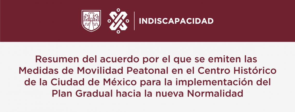 Resumen Medidas de Movilidad Peatonal en el Centro Histórico de la Ciudad de México