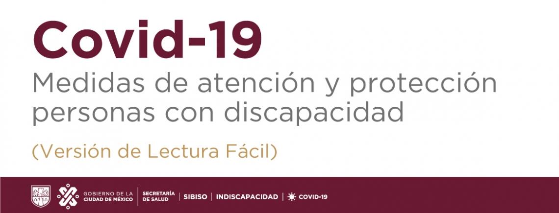 Covid19 Medidas de Atención y Protección a Personas con Discapacidad LECTURA FACIL